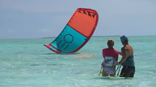 Kite Surfing in the Cocos
