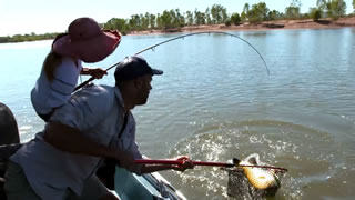 Fishing for Barramundi in the